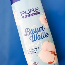 Softe Baumwolle & Milch Duschcreme von Pure & Basic