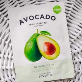 Avocado High-Nutrition Mask Sheet - It's Skin
