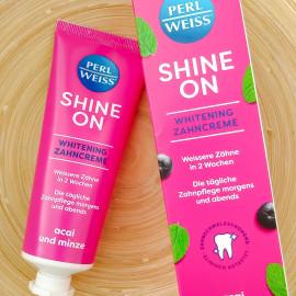 Shine On Whitening Zahncreme - Açai und Minze von Perlweiss